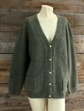 Vintage Appleseeds Oversized Cable Knit Cardigan Sweater Size XL