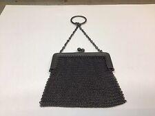 Antique Victorian French Chain Mail Mesh Coin Purse Bag