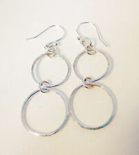 Handmade Precious Metal Earrings without Stones