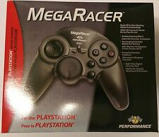 NEW MEGA RACER RACING WHEEL CONTROLLER FOR PLAYSTATION 1 PSONE DUAL VIBRATION