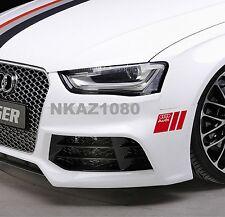 AUDI Vinyl Decal sticker Sport Racing bamper emblem RED