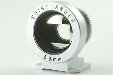 【Exc+++++ 】 Voigtlander 50mm view finder silver From JAPAN  #00012