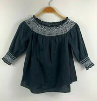 Country Road Womens Black Tunic Top Size XS Stretch 'Style 60200654'