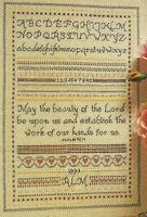 Flower Thread Sampler Cross Stitch Pattern chart from a magazine Psalm 90:17