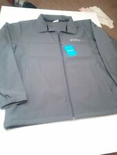 Columbia Jacket Mens XL Gray Bowen Lake Full Zip Jackeyt Coat $115 Softshell