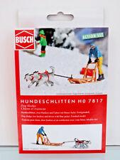 Busch 7817 - H0 - A-Set: Hundeschlitten - NEU in OVP