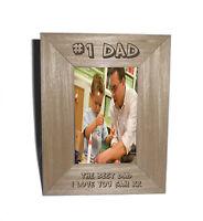 Number 1 Dad personalised Photo Frame 4 x 6 - Free Engraving