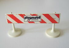PLAYMOBIL (Q1112) CHANTIER - Barriere avec Supports Vintage Playmobil System