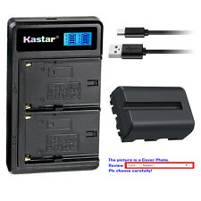 Kastar Battery LCD Dual Charger for Sony NP-FM500H & Alpha a77 II SLT-A77 II
