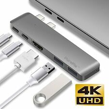 PureFix 5-in-1 Slim USB Type C Hub Thunderbolt 3 4K HDMI 2016 2017 Macbook Pro