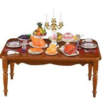 Dollhouse Miniature SALE Complete Dinner on Dining Table Reutter 1.834/0