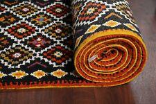 Vintage Palace Geometric Tribal Berber Moroccan Runner Rug Vegetable Dye 4x32