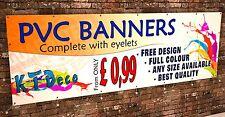 OUTDOOR VINYL BANNER PRINTING - FULL COLOUR - FREE DESIGN - ADVERTISING - PVC