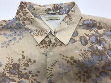 Scotch & Soda Men XL Slim Fit Floral Long Sleeve Shirt