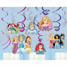 Disney Princess Birthday Party Swirl Decorations, pack of 12