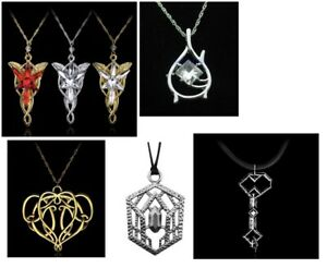 Lord of the Rings Hobbit Fantasy Elven Tauriel Pendant Necklace & Gift Bag