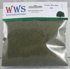 WWS Winter 1mm Mix Model Basing Static Grass 30g G,O,HO/OO,TT,N.Z Wargames