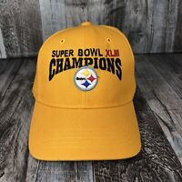 2009 Super Bowl XLIII Champions Pittsburgh Steelers NFL Hat Cap Yellow One Size