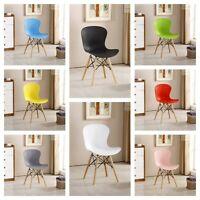 Alessia Eiffel Ess Stuhl Gerippt DS Plastik Skandinavisch Stil Gebogen Komfort