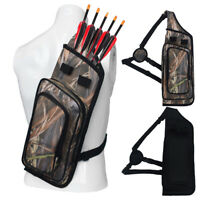 2pcs Archery Quiver Arrow Backpack Hunting Compound Recurve Bow Holder