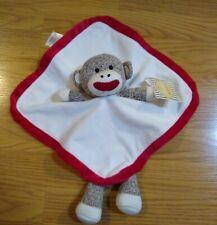 Baby Startets Sock Monkey Baby Security Blanket Infant Boys Girls Unisex NEW NWT