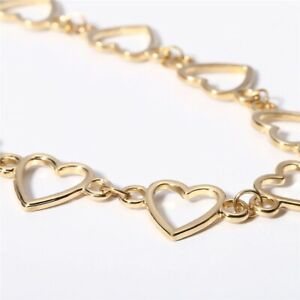 Stunning Metal Hearts Alloy Choker Chain Necklace Jewellery Charm Love Gift
