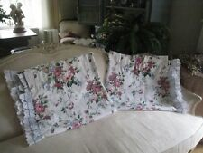 WAVERLY BELLE RIVE FLORAL RUFFLED LONG (PAIR) CURTAINS #74