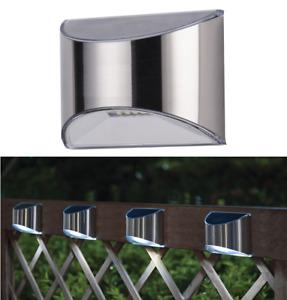 New Stainless Steel Solar Light Waterproof LED Fence,Yard,Patio,Garden Deck Wall
