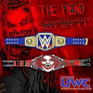 WWE The Fiend Custom Wrestling Belt Set x 2 - Let Me IN!!! Mattel Bray Wyatt