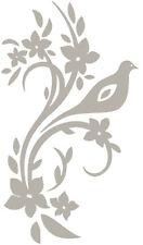 Flower & Bird Etch Effect, Frosted Vinyl Window Sticker