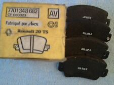 Renault 20 Front Brake Pads R1272 R1279   New Genuine   7701348682