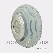 Authentic Chamilia Lace Collection Silver Murano Periwinkle Bead 2110-1115