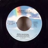 "Reba McEntire Rumor Has It / You Remember Me 7"" 45 MCA rainbow VG+"