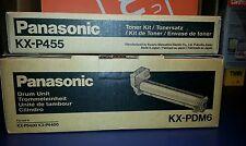Panasonic KX-PDM6 Drum Unit and KX-P455 Toner Kit  *Brand NEW* for KX-P4500/4400
