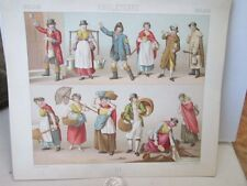 Vintage Print,ENGLISH COMMON DRESS,Costumes Historiques,Chromo
