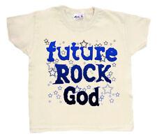 "NIÑO ROCK CAMISETA"" Futuro ROCK Dios ""Música Metal Banda camiseta estrellas"