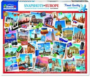 Snapshots of Europe 1000 piece jigsaw puzzle  760mm x 610mm   (wmp)