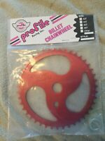 Profile Racing RED ripsaw bmx bike SPROCKET 43T chainring New NOS🔥 OLDSCHOOL