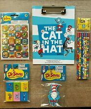 DR. SEUSS Stationery Set School Supplies Pencils & more!  *CAT IN THE HAT*