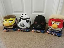 4 x Angry Birds Star Wars Soft Toys Darth Vader Stormtrooper Skywalker Hans Solo