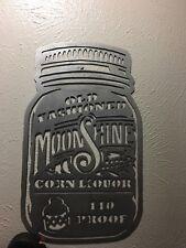 Metal Wall Art Decor Moonshine Mason Jar Moon Shine Ball Jar
