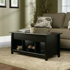 Lift-up Top Coffee Table w/Hidden Storage Compartment & Shelf Black