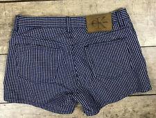 Calvin Klein Shorts Blue White Black Checks 5 Pocket Juniors Size 3