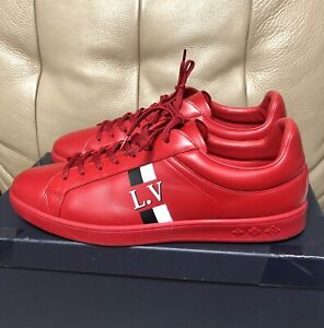 Louis Vuitton Luxembourg Men's Red Sneakers UK 9 US 10 EU 43 Nearly New