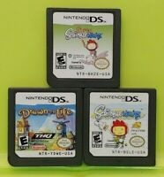 Nintendo DS Lite 2ds 3ds Mystery Game Lot Super Scribblenauts Drawn to Life