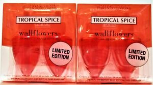 Bath Body Works TROPICAL SPICE Wallflower Refill Bulbs, NEW x 2 boxes