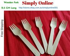 25 FORKS DISPOSABLE PARTY WOODEN CUTLERY PACK WOODERN ECO PICNIC CATERING