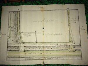 FRANCE (HÉRAULT) : Plan Manuscript 18th Land Of Mr Belpel, doctor.
