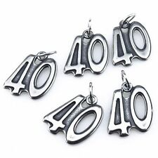 21232 1pc Antique Pewter Stainless Steel Figure Years Number 40 Pendant Charms