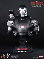 IRON MAN 3 WAR MACHINE 1/4 scale mini bust~Hot Toys~Sideshow~Avengers~Marvel~NIB